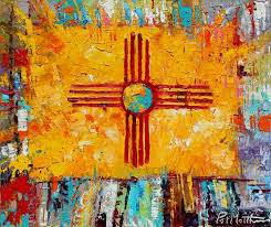 New Mexico Flag Painting